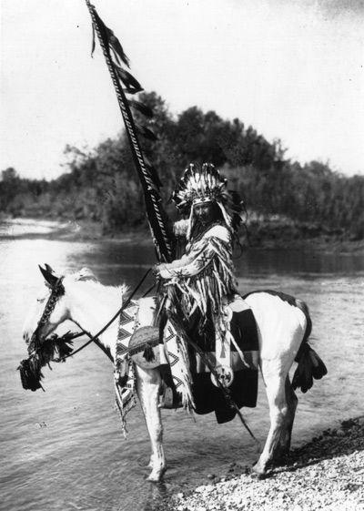 Jefe Blackfoot, alrededor de 1910