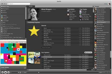 la interfaz de Spotify