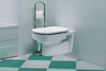 Inodoro sin tanque en el baño