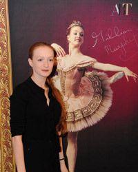 Gillian Murphy, bailarín principal del American Ballet Theatre, asiste a una conferencia de prensa en Beijing.