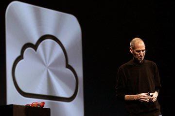 Steve Jobs presentó el servicio iCloud de Apple en el Mundial Developers Conference en junio de 2011.