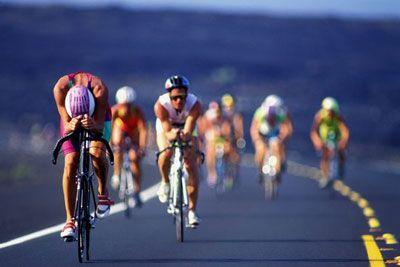 segmento de la bicicleta de Ironman en Kona