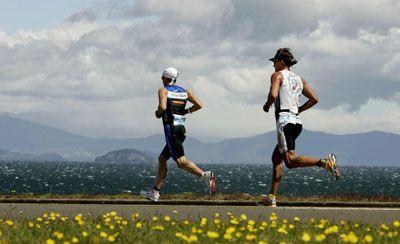 corredores en el Ironman