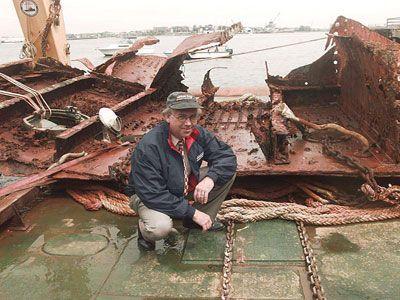 pedazo de Titanic's hull