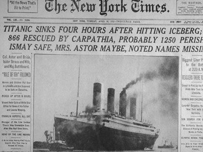 New York Times Titanic título