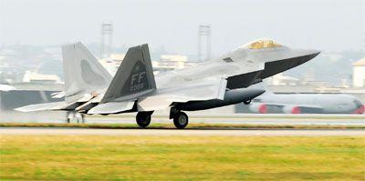 Avión de combate de la Fuerza Aérea.