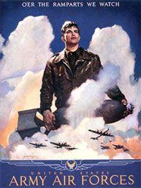 La Fuerza Aérea del Ejército de Estados Unidos utilizaron estos carteles para reclutar a los hombres durante la Segunda Guerra Mundial.