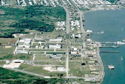 El Centro de Formación de la Guardia Costera y de la estación en Cape May, Nueva Jersey.