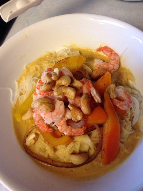 Cómo un curry amarillo simple Con Receta Camarones