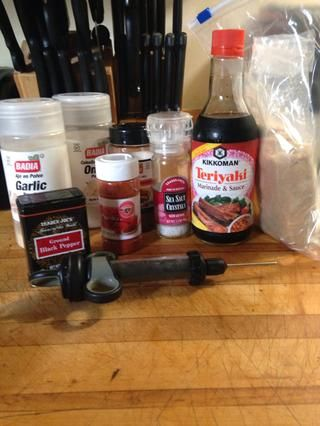 He utilizado estos elementos para hacer un masaje en seco para el hombro de cerdo