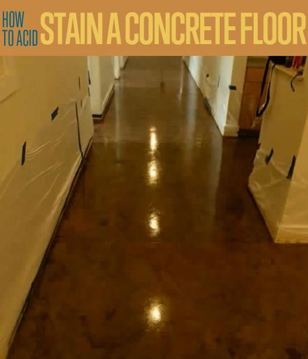 Fotografía - Cómo Ácido manchas un piso de concreto