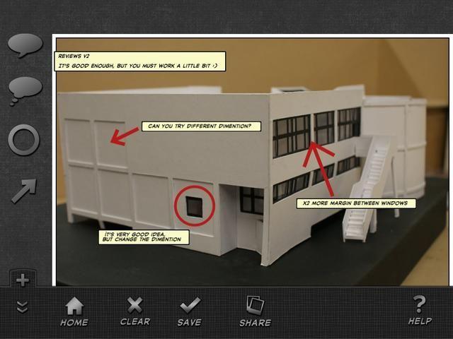 Utilice las formas en la aplicación de mencionar algo y añadir títulos fácilmente en las fotos. Usted puede cambiar el tamaño de los cuadros de texto con golpes de pantalla simples.