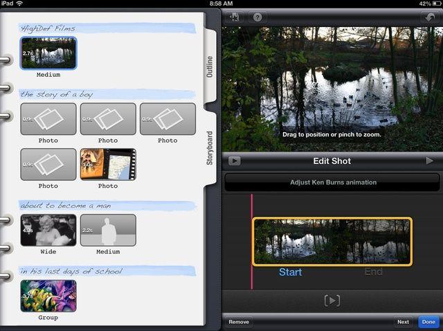 Cómo agregar imágenes a iMovie