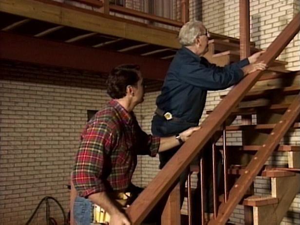 Adición de escaleras de cubierta: Paso 6- Construir las Barandas