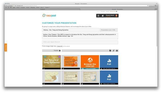 Puede volver a ordenar las diapositivas y características interactivas. Una vez que haya terminado la edición, haga clic en'Done'. Remember to publish your presentation.