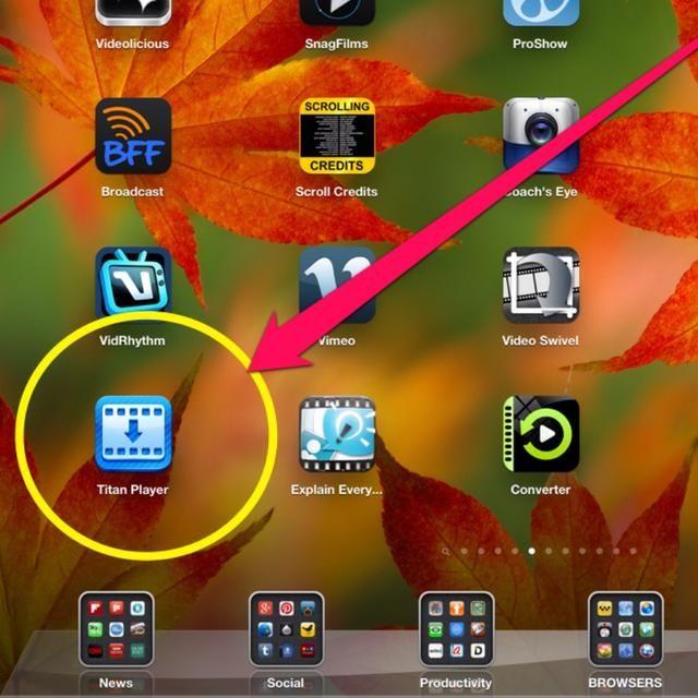 Descargar Titan Player desde la App Store,