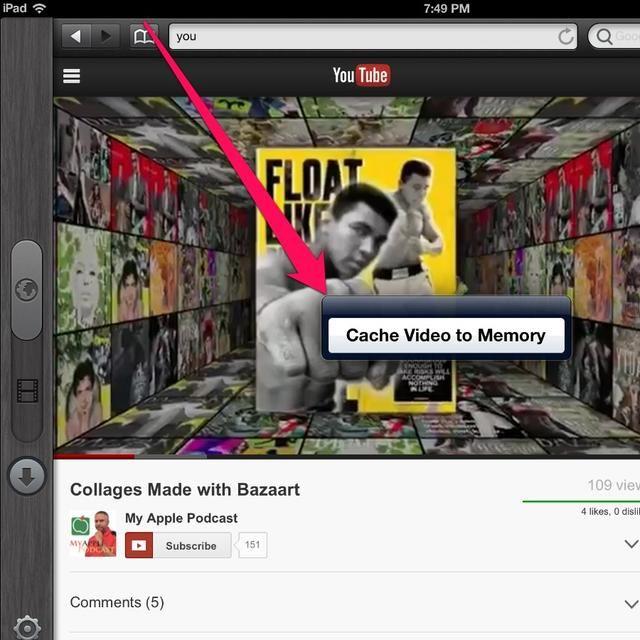 Busca el vídeo que desea descargar, espere unos segundos y pulse