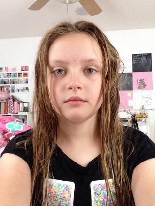Después de que sus 5-10 minutos. Quítate la toalla. Sé que mi cabello se ve no es diferente, pero hay una sensación diferente. Su pelo debe ser secadora.