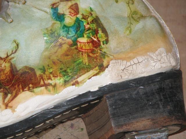Aquí se puede ver tanto antes como después de la crema de Antigüedades ha sido aplicada.