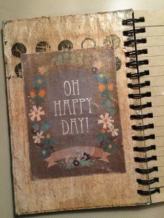 He añadido una tarjeta alegre para el interior del portátil para saludar al escritor cada vez que se abre para escribir.