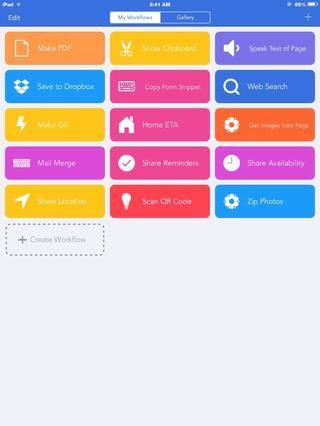 Flujo de trabajo es una aplicación de automatización IOS 8 que utiliza nuevas características IOS8 al máximo. Esto significa que usted puede hacer tareas repetitivas en IOS CON LA PRRESS de un botón!