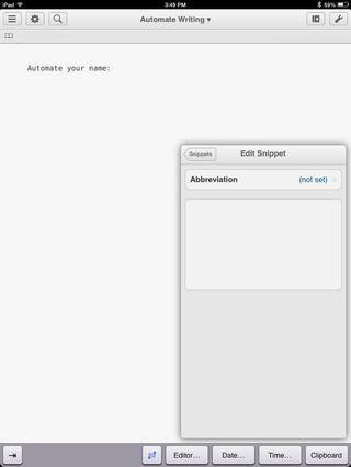 En el cuadro blanco, escribir algún texto que desea automatizar. En este caso, quiero escribir mi nombre.