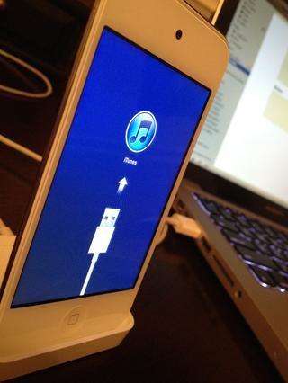 Ahora sólo tienes que ver como iTunes y el dispositivo haga su trabajo!