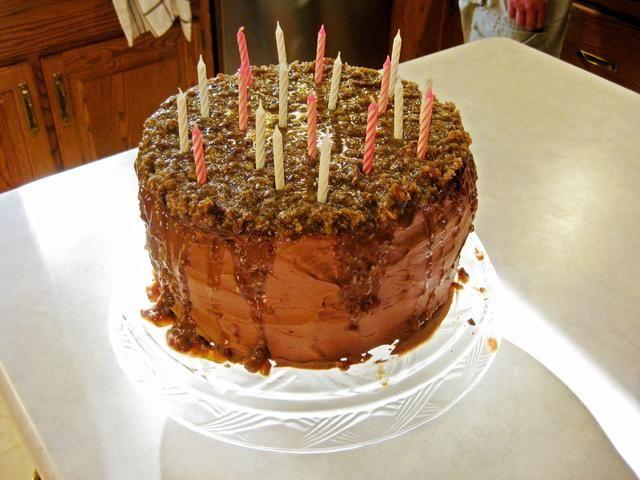 Torta Terminado !! Si alguien quiere el caramelo receta relleno pecan, puedo publicarlo más tarde.