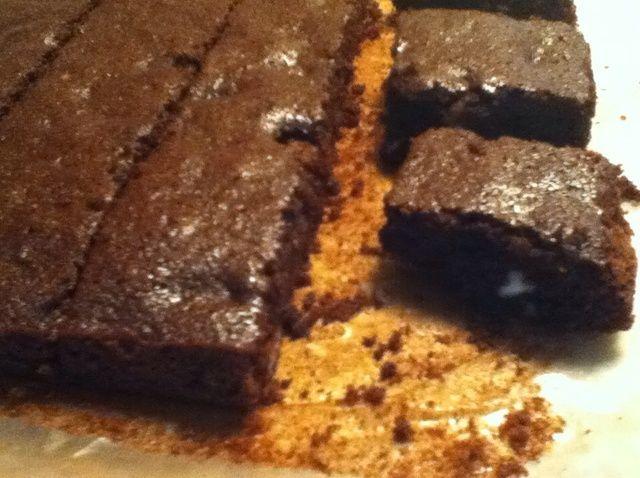 Cómo cocer al horno de harina de almendra Brownies Receta