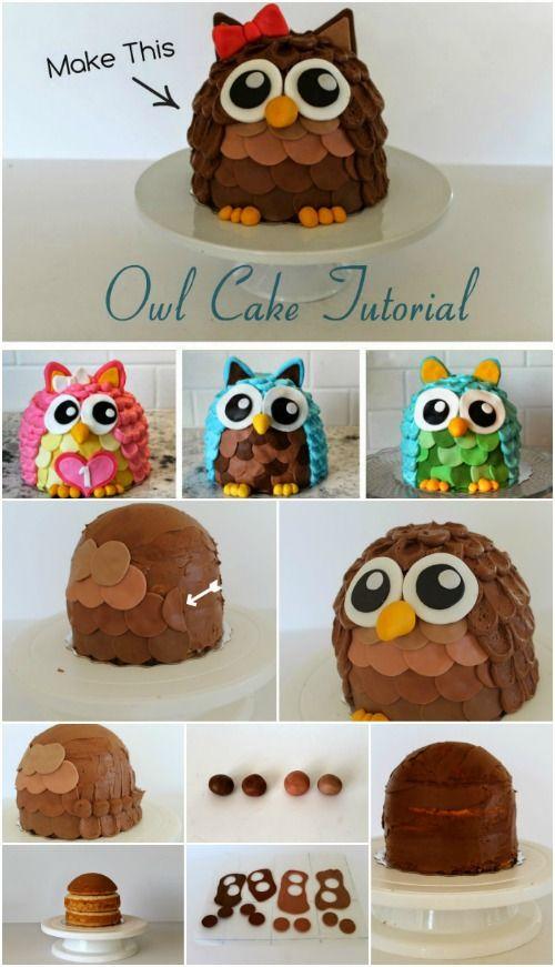 Hornear un pastel de adorable y delicioso Búho Esponja