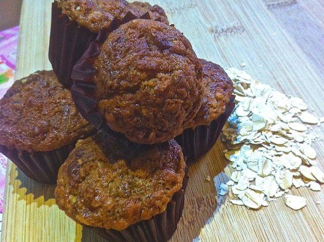 Cómo cocer al horno Plátano Avena Muffins Receta