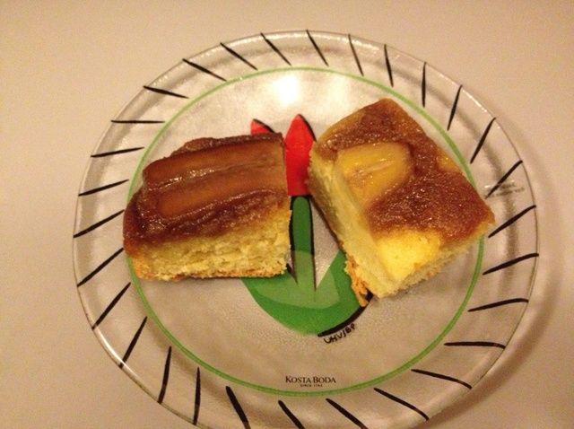 Cómo cocer al horno banana y nuez Receta de la torta al revés