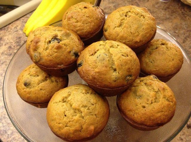 Cómo cocer al horno arándano Plátano nuez Muffin Pan Receta