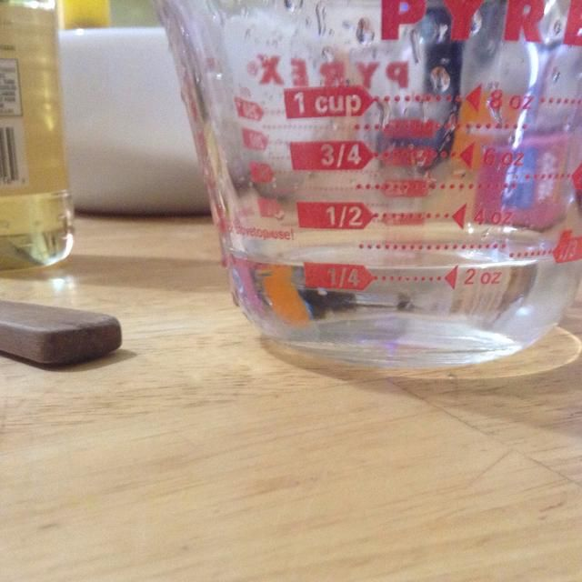 Medida agua 1/4 taza
