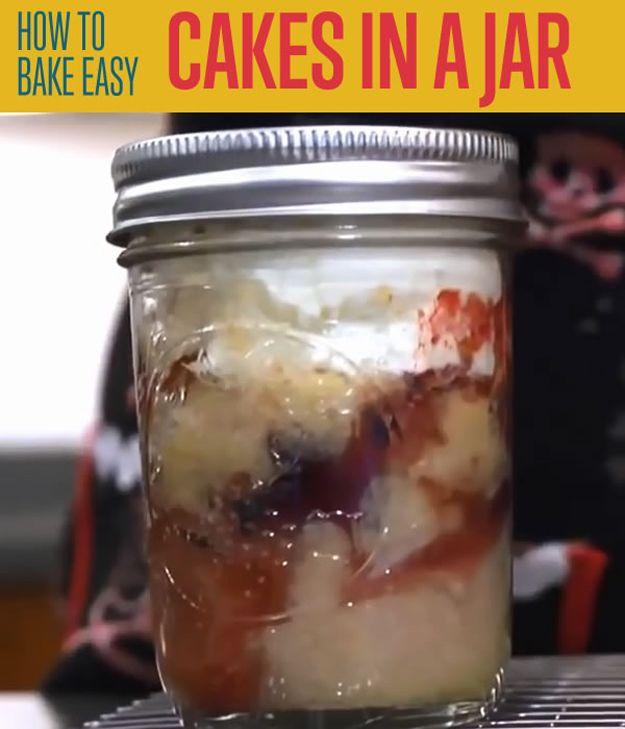 Fácil Cake en un tarro
