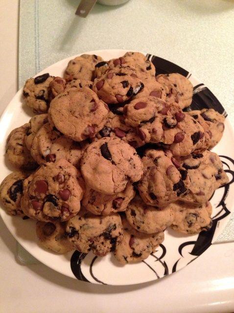 Cómo cocer al horno de viruta de chocolate Oreo Receta de las galletas