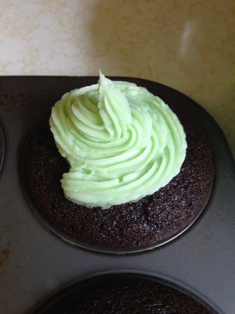 Cómo cocer al horno Magdalenas de chocolate con menta formación de hielo Receta
