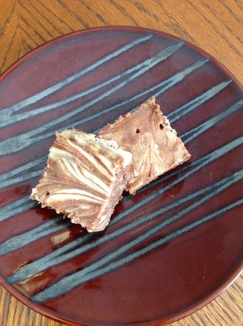 Cómo cocer al horno queso crema Remolinado Brownies Receta
