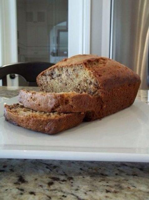 Cómo cocer al horno delicioso pan de plátano Receta