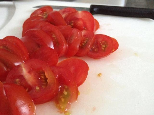 Tomates de la rebanada.