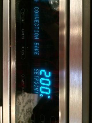 Ponga en el horno 200C
