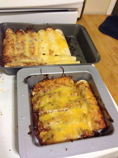 Cómo cocer al horno Hecho en casa Tex Mex Enchiladas Receta