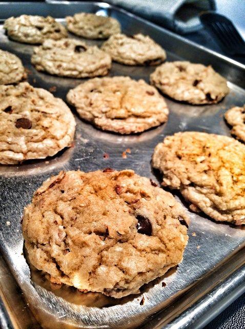 Cómo cocer al horno miel almendra chocolate Chip Cookies Receta