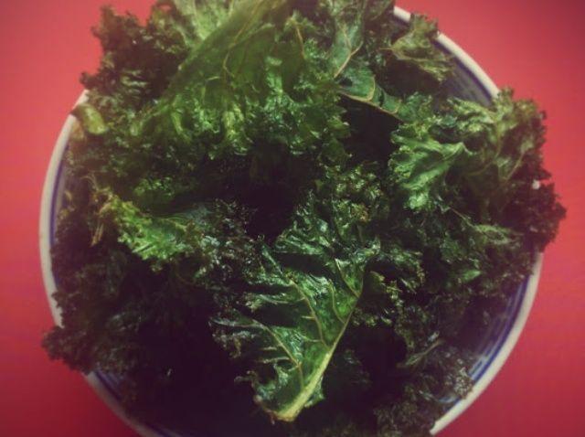 Cómo cocer al horno Kale chips Receta