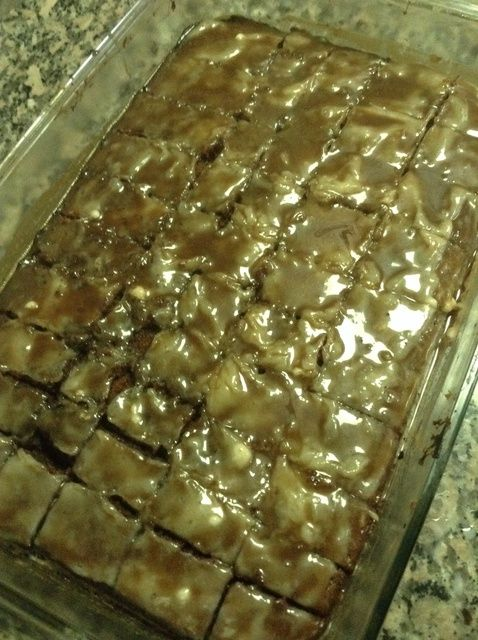 Cómo cocer al horno de la melcocha Brownies Receta