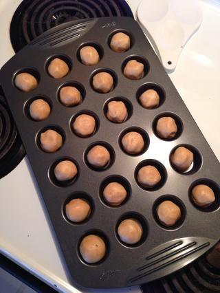 Forma la masa de galletas en 1