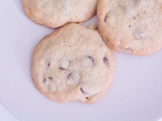 Cómo cocer al horno suave-Chew chocolate Chip Cookies Receta