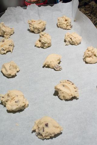 Esto es más o menos la forma en que debe mirar. Esta receta es para 50 galletas.