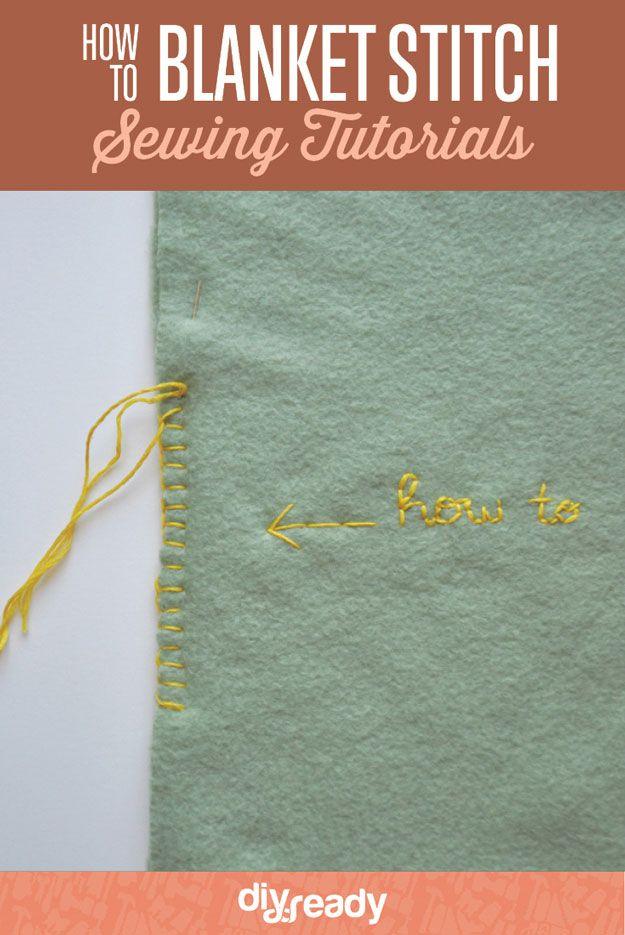 Cómo Stitch Manta | http://artesaniasdebricolaje.ru/how-to-blanket-stitch/