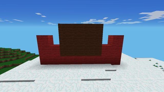 En primer lugar, hacer que el bote de color rojo en la parte inferior para sujetar el árbol y luego construir 3 líneas de 4 para el maletero